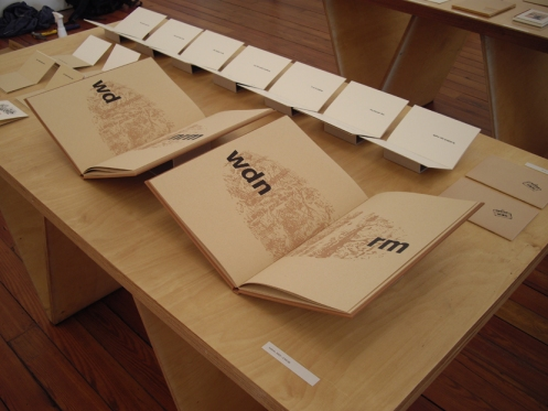 wdnrm (2005): cloth-covered letterpressed work by Colin Sackett